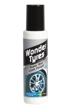A multi-purpose exterior trim, bumper and tyre treatment with premium colour and shine enhancers. The liquid wipe-on formula ensures an even, long lasting coverage. <a href='wheel-care/tyres/wonder-tyres-applicator'>Read More</a>
