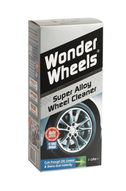 Used by the professionals, Wonder Wheels is an outstanding wheel cleaner that is easy to use. Wonder wheels is formulated for use on lacquered wheels, steel wheels and plastic trims. <a href='wheel-care/clean/alloy-wheel-cleaning-kit'>Read More</a>