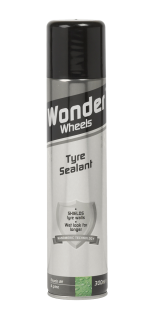 Wonder Wheels Tyre, Bumper and Trim Sealant leaves a long lasting lustrous finish on all tyres and trim. Adheres to all plastic and rubber surfaces, providing protection against dirt, dust and grime. Once applied, Tyre Sealant repels water, dirt and harmful UV rays keeping trim cleaner for longer. Restores the 'new look' shine time after time. <a href='car-care/sealants/tyre-sealant'>Read more</a>