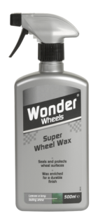 Super Wheel Wax from Wonder Wheels is specially formulated to seal and protect wheel surfaces to leave a long lasting shine. For best results firstly wash wheels with Wonder Wheels Universal Wheel Cleaner. Apply Wheel Wax to each wheel to reduce the build up of brake dust. Suitable for use on steel, plastic and chrome wheel trims and all alloy wheels. <a href='car-care/wheels/super-wheel-wax'>Read more</a>