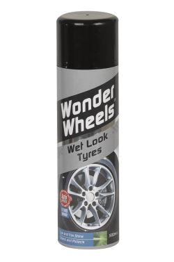 The advanced Wonder Tyres formula cleans and protects tyre walls in one simple application, leaving a highly durable showroom shine that lasts and lasts. The unique 'Super Flow' valve allows the product to 'flow freely' even in an upside down position giving maximum control without waste. <a href='wheel-care/tyres/wonder-tyres'>Read More</a>